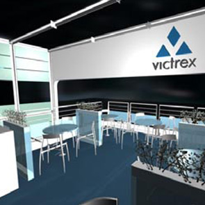 VICTREX trade fair stand